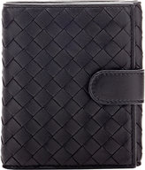 Bottega Veneta Women's Intrecciato Mini Wallet-BLACK