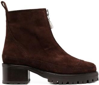 Nicole Saldaña Chris zip-up ankle boots