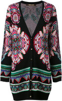 Roberto Cavalli ethnic pattern shift cardigan