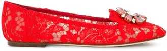 Dolce & Gabbana Vally Embellished Lace ballerinas