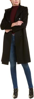 Sofia Cashmere sofiacashmere Sofiacashmere Wool-Blend Wrap Coat