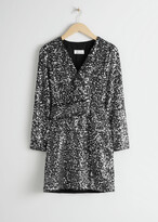 Thumbnail for your product : And other stories Belted Sequin Mini Dress