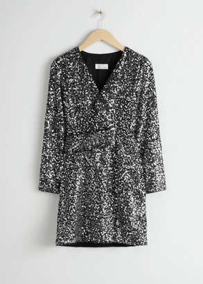 And other stories Belted Sequin Mini Dress