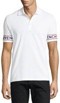 Givenchy Cuban-Fit Logo-Print Pique Polo Shirt