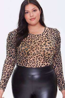 Forever 21 Plus Size Leopard Print Bodysuit
