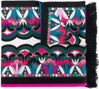 Emilio Pucci colour-block geometric scarf
