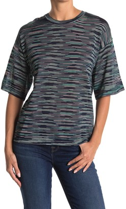M Missoni Space Dye Print Elbow Sleeve Top