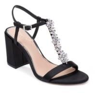 Badgley Mischka Raina Embellished T-Strap Evening Sandals Women's Shoes