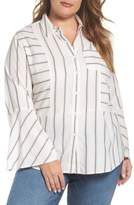 Vince Camuto Bell Sleeve Stripe Shirt