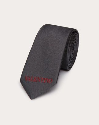 Valentino Garavani Uomo Valentino Tie Man Black/ Red Silk 100% OneSize
