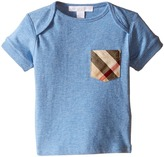 Burberry Short Sleeve Tee w/ Check Pocket Boy's T Shirt