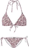 Proenza Schouler Mini Text Print String Bikini Set