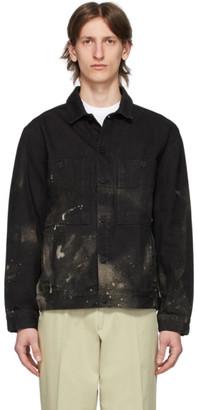 Études SSENSE Exclusive Black Denim Bleached Corner Jacket