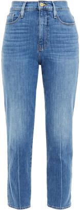 Frame Le Sylvie High-rise Straight-leg Jeans