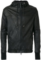 Giorgio Brato hooded bomber jacket - men - Leather/Polyester - 46