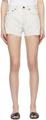 Saint Laurent Off-White Denim Raw Edge Shorts