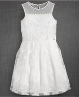 GUESS Illusion-Neck Lace Party Dress, Big Girls (7-16)