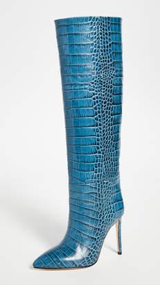 Paris Texas Moc Croco Tall Boots Stiletto Heel