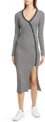 NSF Etty Asymmetrical Henley Long Sleeve Dress