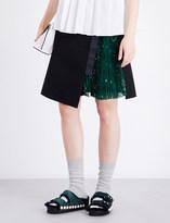 Sacai Bandana wool-blend skirt