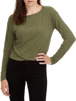 Noisy May Dora Crisscross Cotton Blend T-Shirt