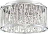 Quoizel Platinum Collection Crystal Cove Small Flush Mount in Chrome
