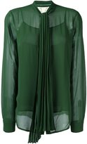 MICHAEL Michael Kors pleated bow blouse