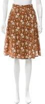 Suno Floral Print Wrap Skirt