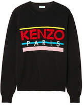 Kenzo Embroidered Cotton Sweater - Black