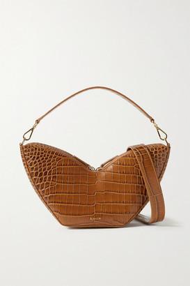 S.JOON Tulip Croc-effect Leather Shoulder Bag