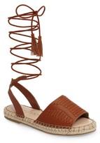 Sole Society Women's Clover Ankle Wrap Espadrille Sandal
