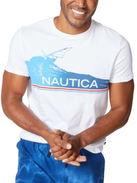 Nautica Men's Surfing Logo Cotton T-Shirt