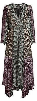 Rebecca Taylor Women's Louisa Silk Handkerchief Wrap Dress - Size 0