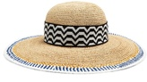 Missoni Contrast-trim straw hat