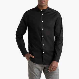 La Redoute Collections Extra Slim Long-Sleeved Shirt with Mandarin Collar