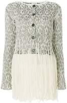 Loewe textured fringe cardigan
