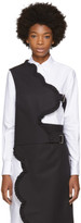 Shushu-tong Black Asymmetric Petal Vest