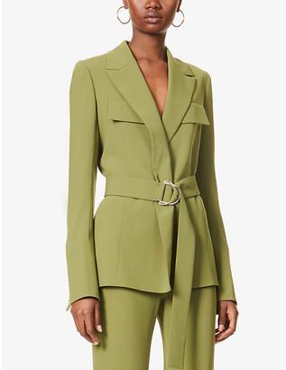 Galvan Safari belted crepe jacket
