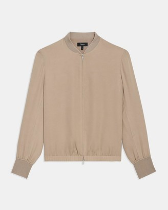 Theory Bomber Jacket in Silk