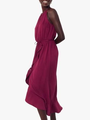 Oasis Wrap Midi Dress, Burgundy