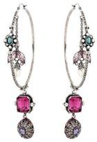 Alexander McQueen Swarovski crystal-embellished hoop earrings