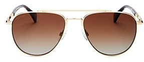 Rag & Bone Women's Polarized Brow Bar Aviator Sunglasses, 55mm