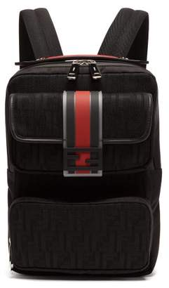 Fendi Technical Ff-jacquard Backpack - Mens - Black