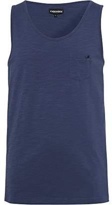 Chiemsee Men's Plain with Rolled Edges/Polo/T Shirt/Top/Tank Top, Men, Tank, einfarbig mit gerollten Kanten,X-Large