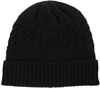 Jeff & Aimy Skull Slouchy Beanie Hats for Men Acrylic Knitted Winter Hat Thick Warm Soft Ski Hat Strechable Black 56-60CM