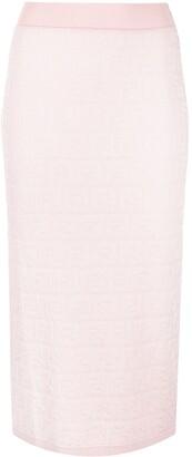 Fendi FF-pattern knitted skirt