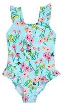 Hula Star Girl's Fairy Garden One-Piece Swimsuit