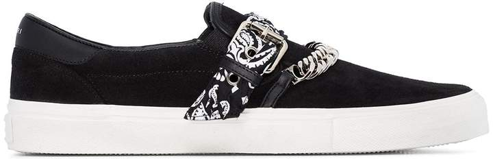 Amiri bandana buckle slip-on sneakers