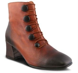 Spring Step L'Artiste Square Toe Leather Booties - Mitzie