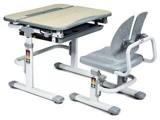 Overstock Costway Children Desk Chair Set Adjustable Study Table Drawer